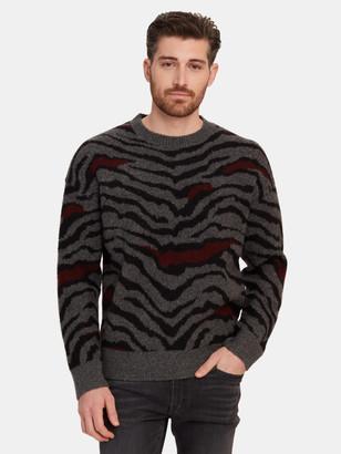AllSaints Tora Crewneck Cheetah Print Sweater