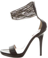 Calvin Klein Collection Leather Embellished Sandals