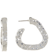 Simon Sebbag Sterling Silver Wide Abstract Hoop Earrings
