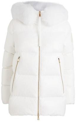 Moncler Givre Fox Fur-Trim Jacket