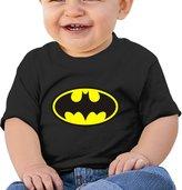 ALIZISHOP Unisex Baby's Batman Logo Cotton Short Sleeve T Shirts For 6-24 Months