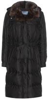 Prada Down coat with fur collar