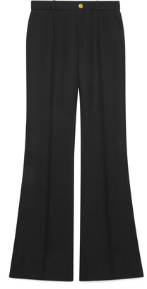 Gucci Wool silk flare trousers