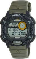 Timex Men's T49975 Expedition Base Shock Black/Green Resin Watch