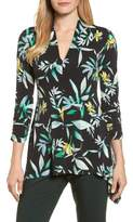 Chaus Women's Ruched Sleeve Floral Print Top