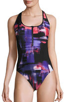 Calvin Klein Colorblocked One-Piece Swimsuit