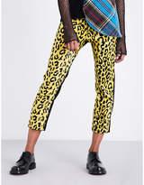 Junya Watanabe Slim-fit high-rise faux-fur jeans