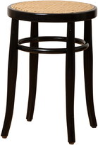 Rejuvenation Hoffman Bentwood Caned Stool by Thonet c1965
