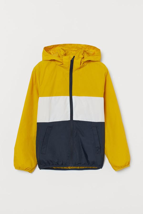 H&M Hooded Windbreaker - Yellow