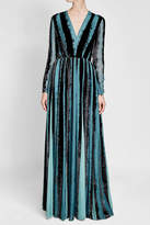 Elie Saab Velvet Gown with Silk