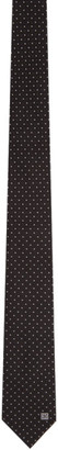 Givenchy Black and White Jacquard Blade Tie