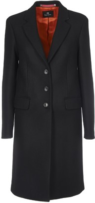 Paul Smith Wool And Cashmere Coat In Black