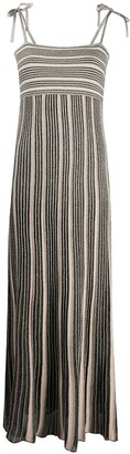 M Missoni Striped Pleated Maxi Dress