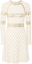 MICHAEL Michael Kors Studded Stretch-knit Dress - Cream