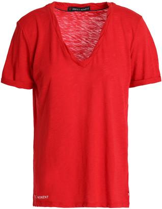 Perfect Moment Slub Cotton-blend Jersey T-shirt