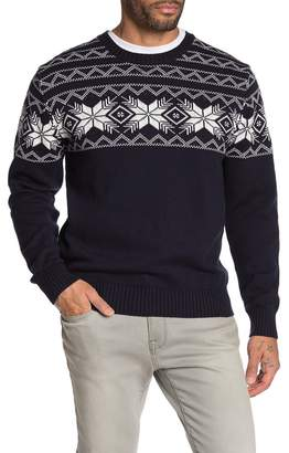 Weatherproof Vintage Fair Isle Mesh Crew Neck Sweater