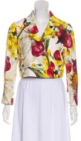 Dolce & Gabbana Matelassé Printed Blazer w/ Tags