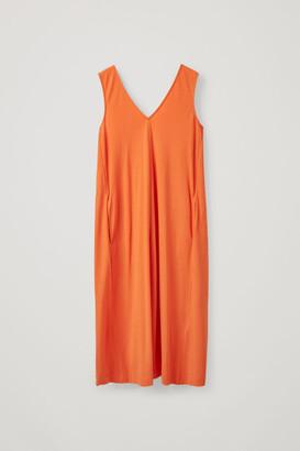 Cos V-Neck Cotton Dress