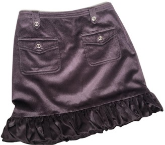 Gucci Purple Wool Skirt for Women