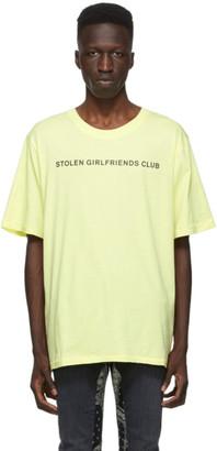 Stolen Girlfriends Club Yellow Text Logo T-Shirt