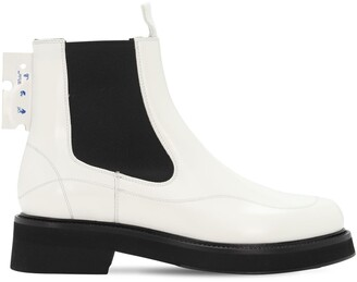 Off-White 40mm Brushed Leather Chelsea Boots