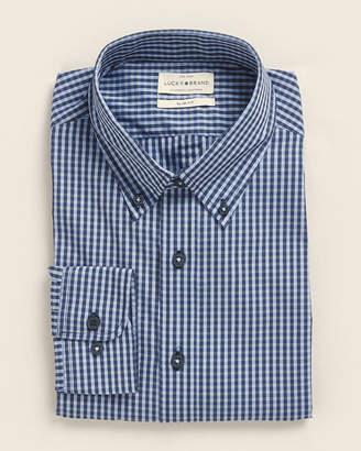 Lucky Brand Button-Down Slim Fit Gingham Dress Shirt