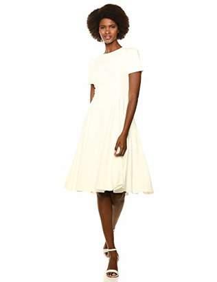Calvin Klein Women's Short Sleeve A-Line Midi Dress