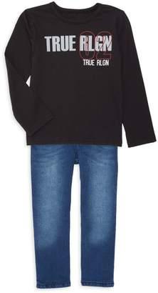 True Religion Little Boy's 2-Piece Long-Sleeve Tee & Jeans Set
