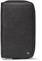 Tom Ford Zip-Around Full-Grain Leather Travel Wallet