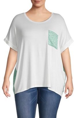 Bobeau Plus Mixed Media T-Shirt