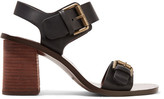 See by Chloe Buckled Leather Sandals - Black