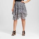 Notations Women's Printed Double Layer Chiffon Skirt