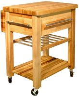 Catskill Craft Baby Grand Workcenter Kitchen Cart With Wine Rack