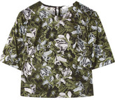 Erdem Juana Jacquard Top - Dark green