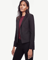 Ann Taylor Paneled All-Season Stretch One Button Jacket