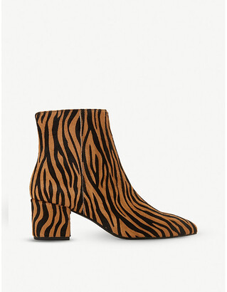 Dune Omarii pony hair heeled ankle boots
