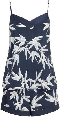 John Lewis & Partners Lucy Camisole And Short Satin Pyjama Set, Blue