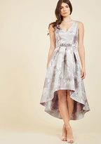 Delightful Drama Floral Dress in Silvermist in 8