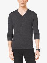 Michael Kors Merino Wool V-Neck Sweater
