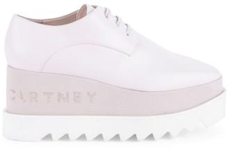 Stella McCartney Sneak-Elyse Embellished Platform Wedge Sneakers