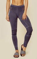 Blue Life zipper moto legging