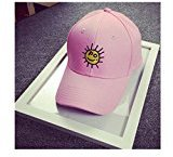 Sport Cap, HP95(TM) Plain Embroidery [Youth] Cotton Baseball Cap Boys Girls Snapback Hip Hop Flat Hat (Pink)