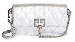 Givenchy Women's Charm Quilted Metallic Leather Shoulder Bag