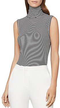 BCBGMAXAZRIA Striped Turtleneck Bodysuit