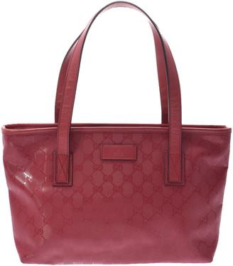 Gucci Pink GG PVC Imprime Tote