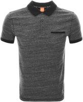BOSS ORANGE Push Polo T Shirt Grey