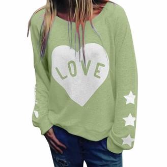Kolila Women Long Sleeve Tops kolila Women's Raglan Long Sleeve T-Shirt Casual LooseT Shirts Blouse Henley V Neck Baseball Tee Shirt Tunic Shirt Tops (Green XL)