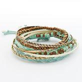 Mudd Gold Tone Beaded Stretch & Bangle Bracelet Set