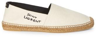 Saint Laurent Signature Canvas Espadrille Shoes