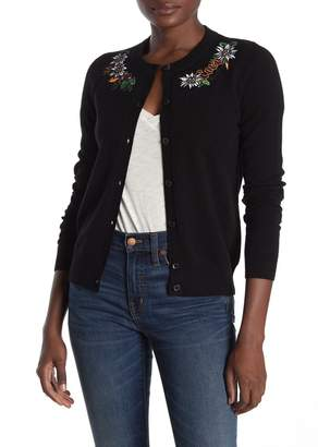 Love Moschino Embroidered Long Sleeve Cardigan